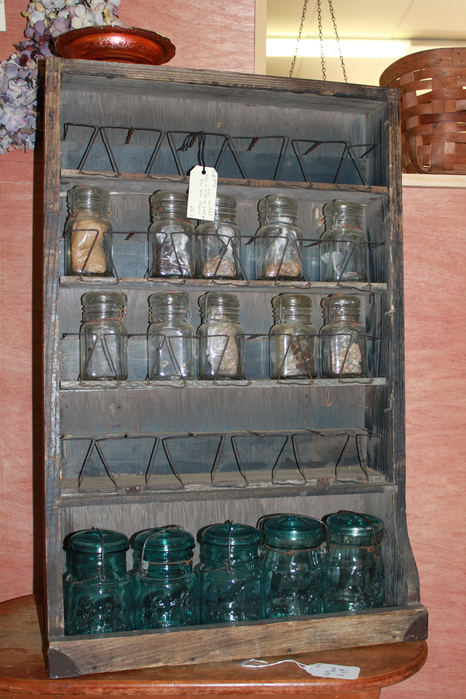 Antique Seed Rack