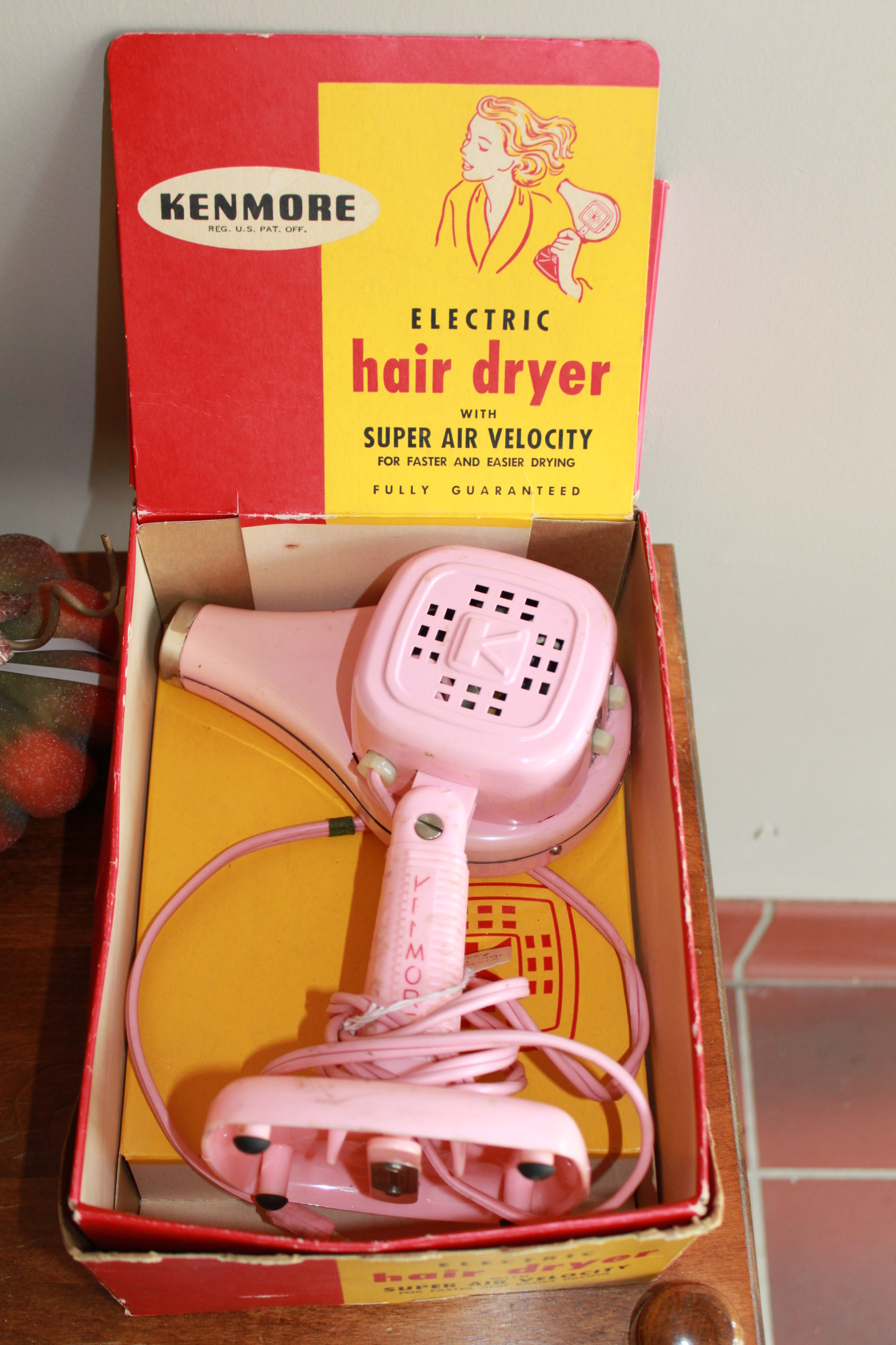 1960s Kenmore Electric Hair Dryer
